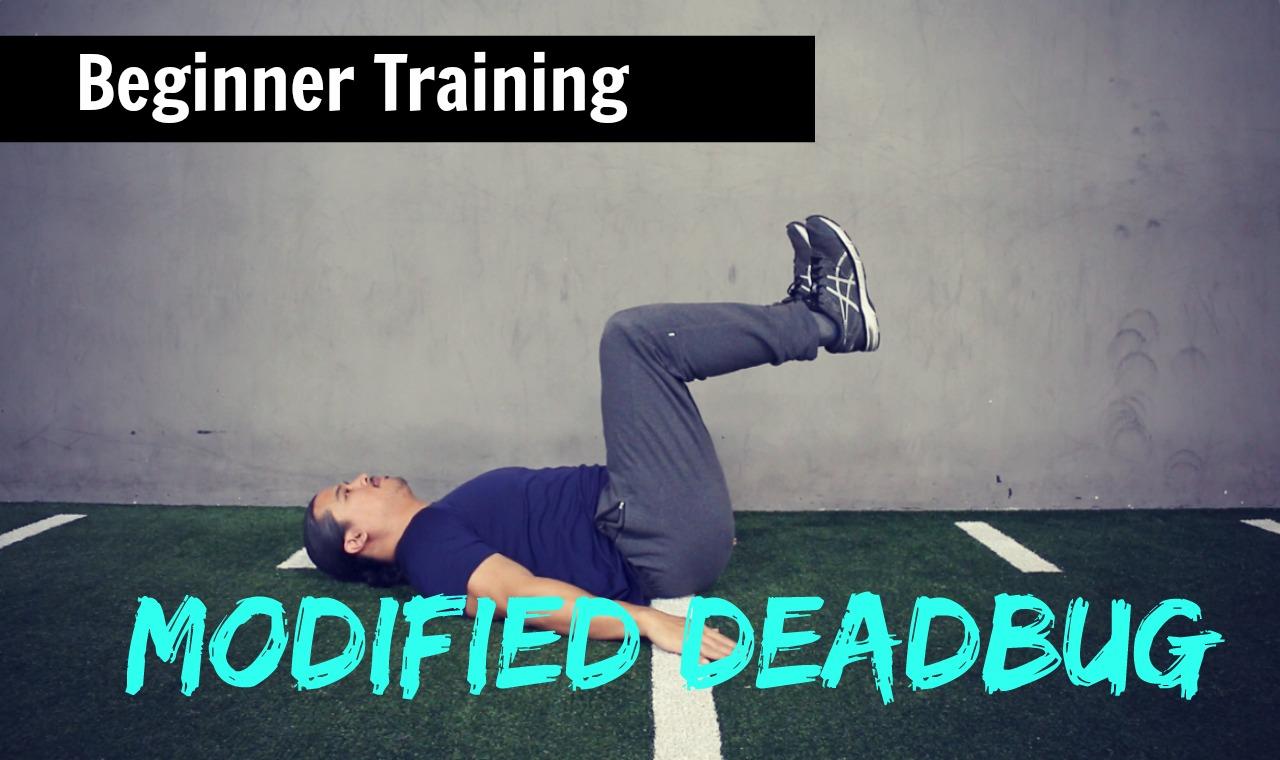 Beginner Exercises:  Modified Deadbug – Leg Lower