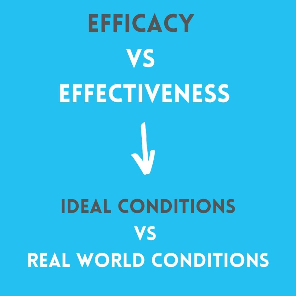 efficacy vs effectiveness